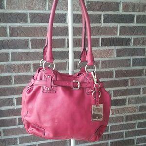 Etienne Aigner Red Leather Shoulder Bag